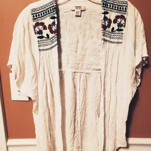 Open Front Linen Type Cardigan EUC Size XS